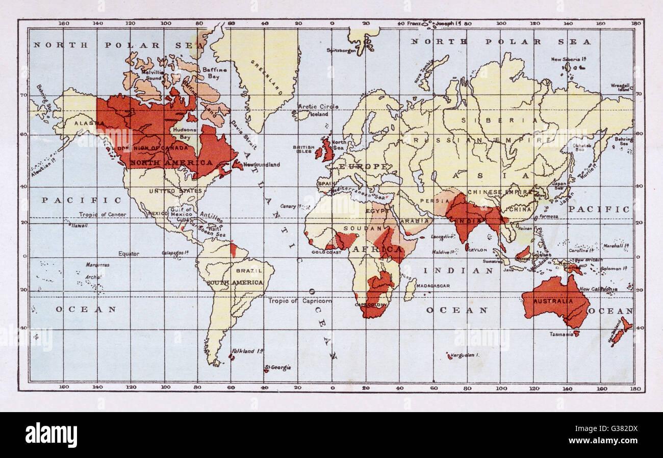 British Empire Map 1900.British Empire Map Stock Photos British Empire Map Stock Images