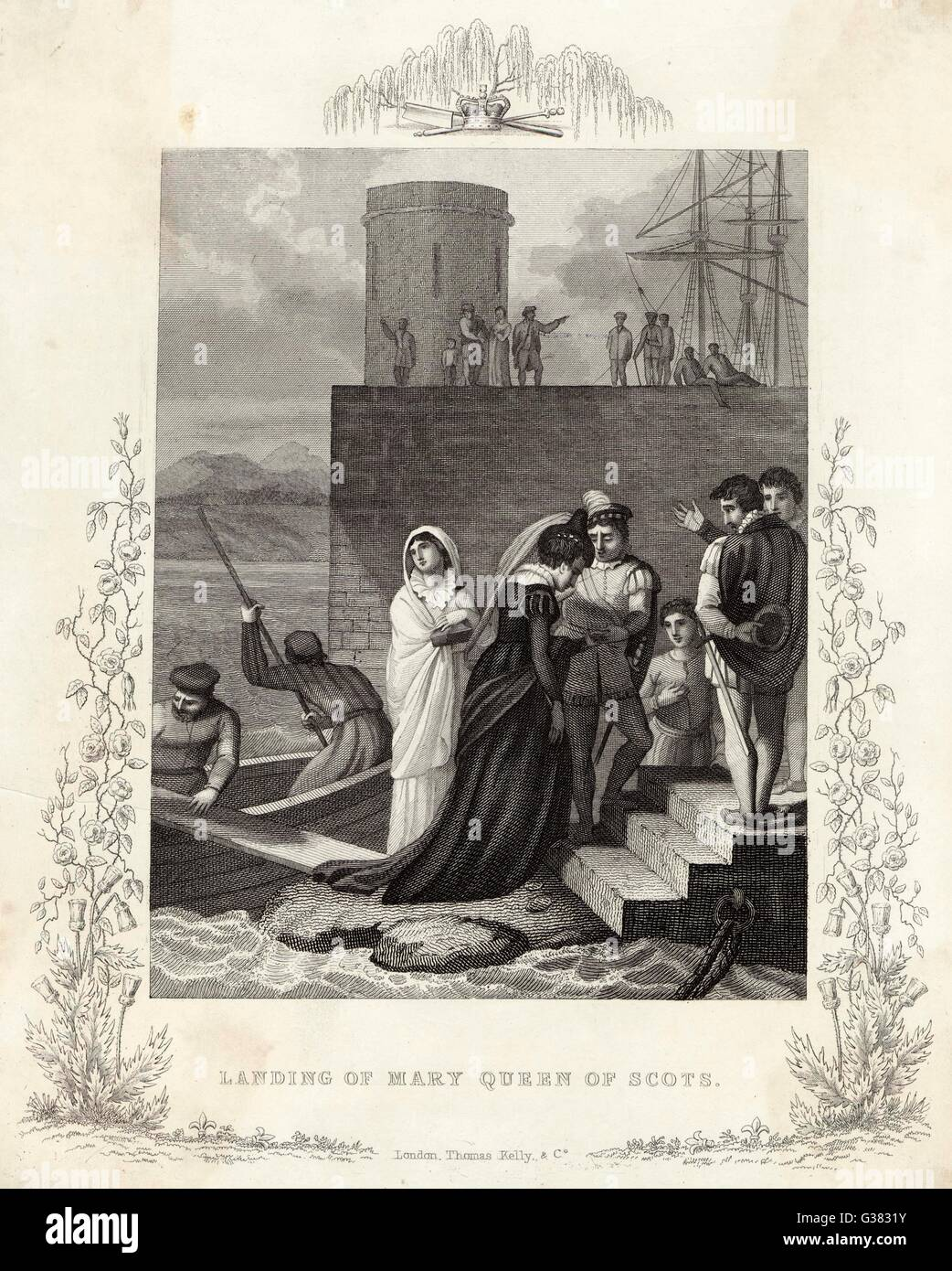 Mary Queen of Scots lands in  Scotland         Date: 1561 Stock Photo