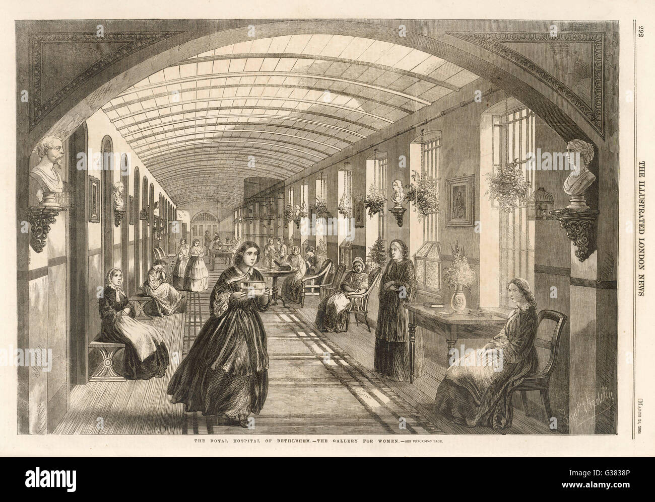 The women's gallery         Date: 1860 - Stock Image