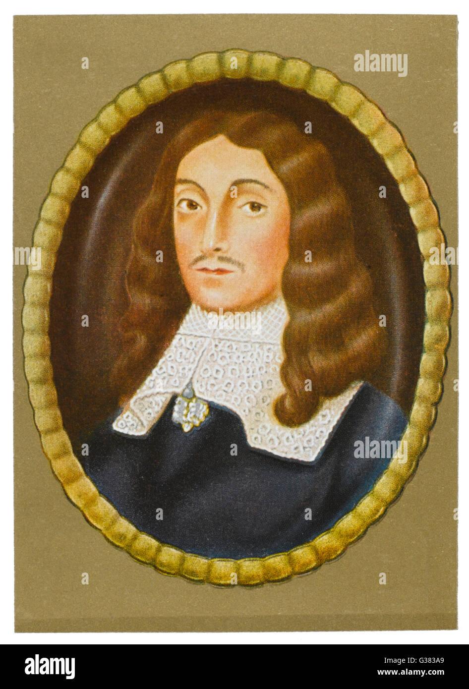 JOHN MILTON  English writer        Date: 1608-1674 - Stock Image