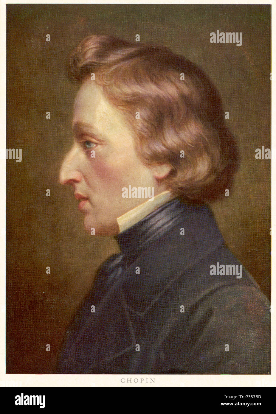 FREDERIC CHOPIN  Polish musician        Date: 1810 - 1849 - Stock Image