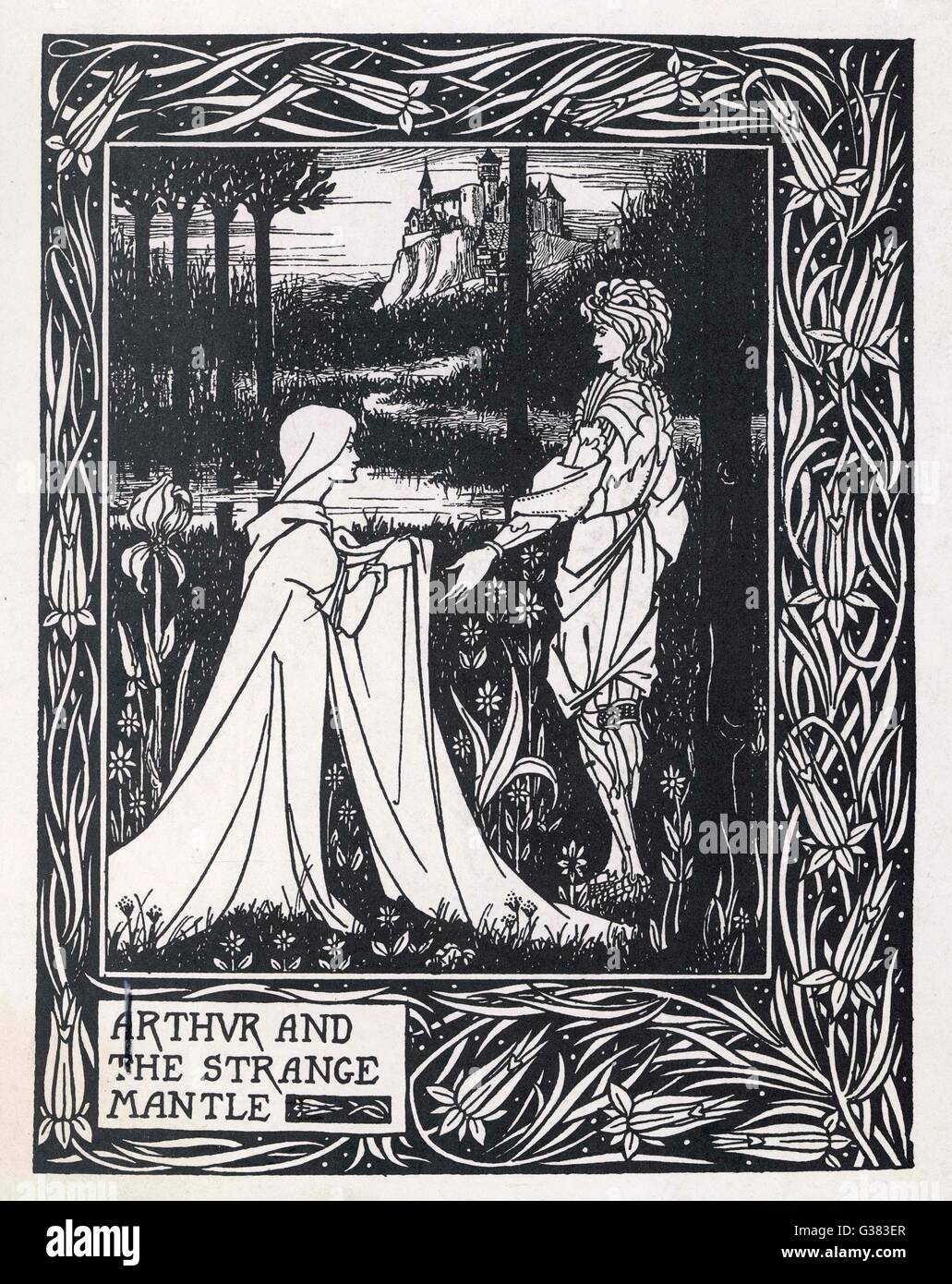 Arthur and the Strange Mantle         Date: 1893 - 1894 - Stock Image