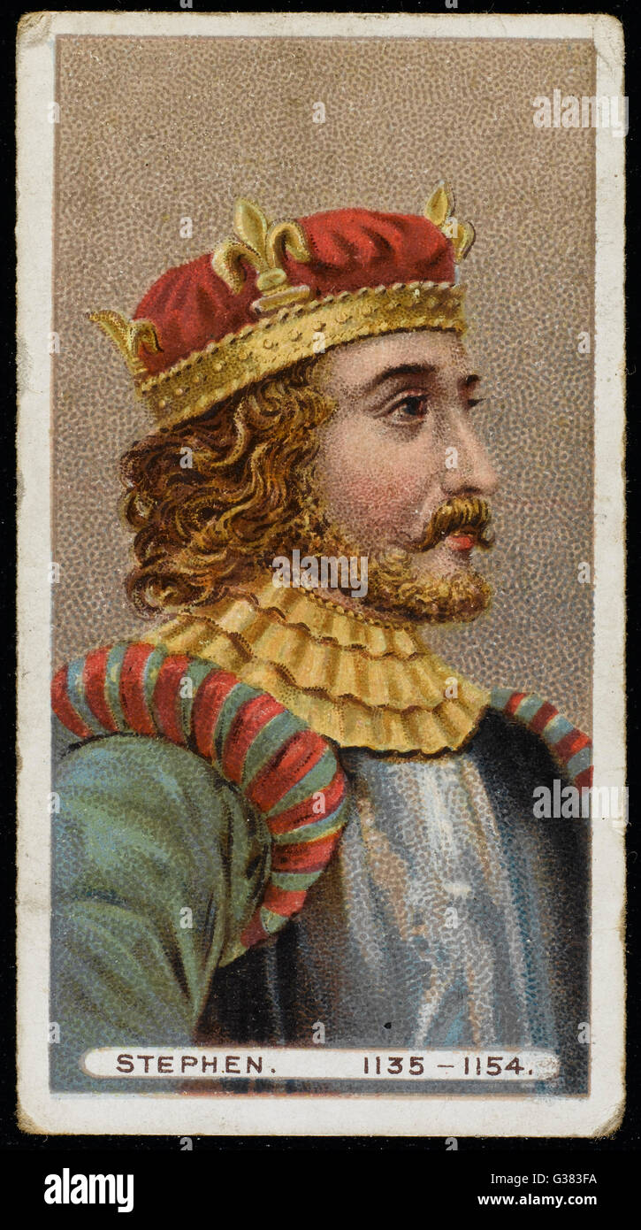 STEPHEN, KING OF ENGLAND  King from 1135 - 1154        Date: 1097? - 1154 - Stock Image