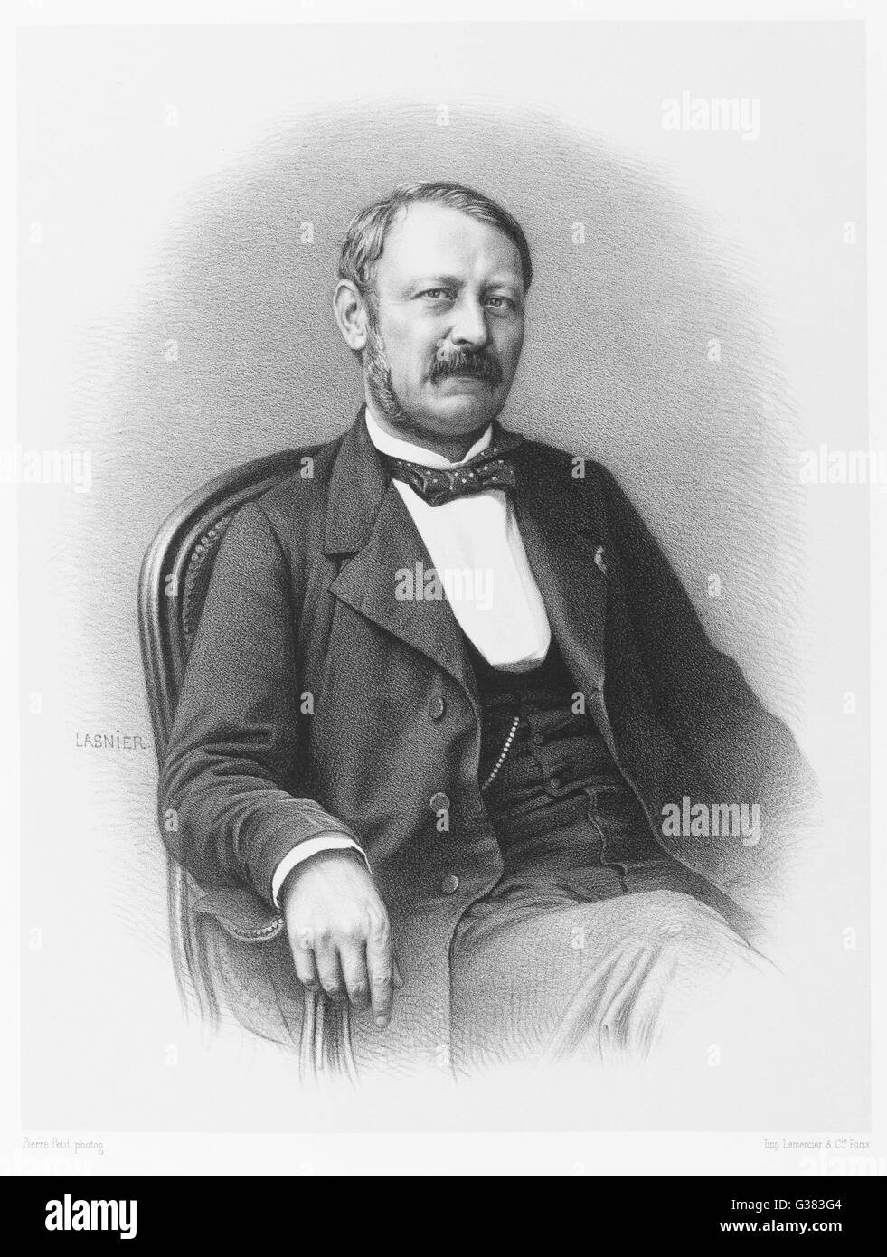 LOUIS FERDINAND ALFRED MAURY  French antiquarian, scholar,  noted for books on dreams and  folklore      Date: 1817 - Stock Image