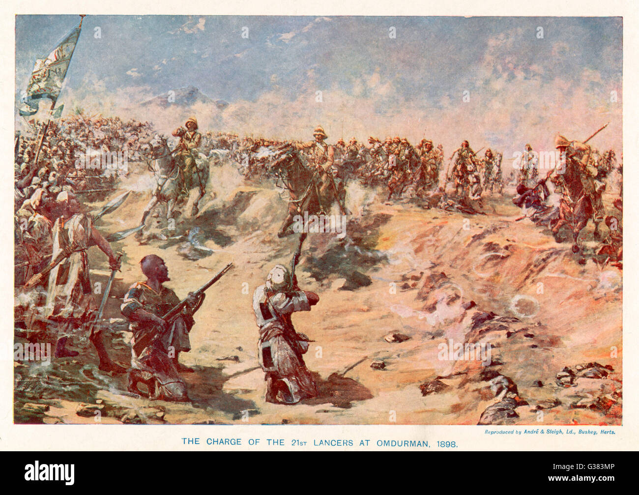 OMDURMAN The charge of the 21st Lancers         Date: 2 September 1898 - Stock Image