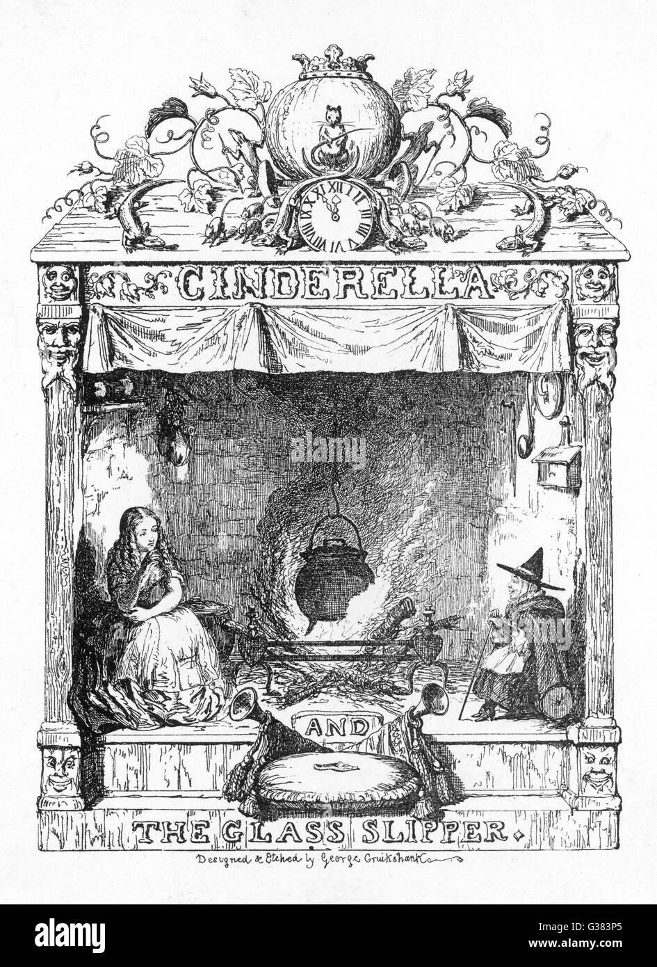 Frontispiece to Cinderella - Stock Image