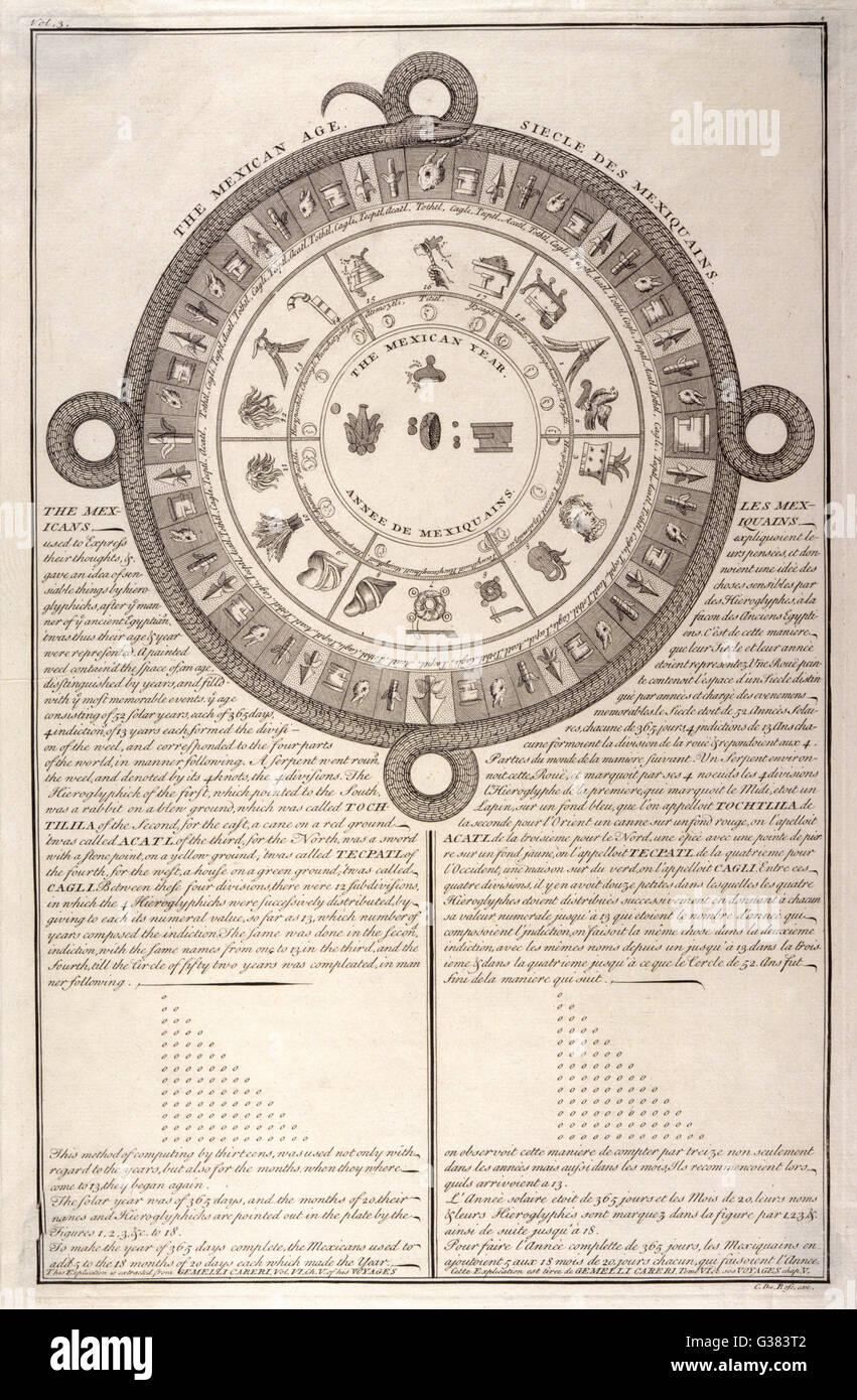Ancient Mexican calendar - Stock Image