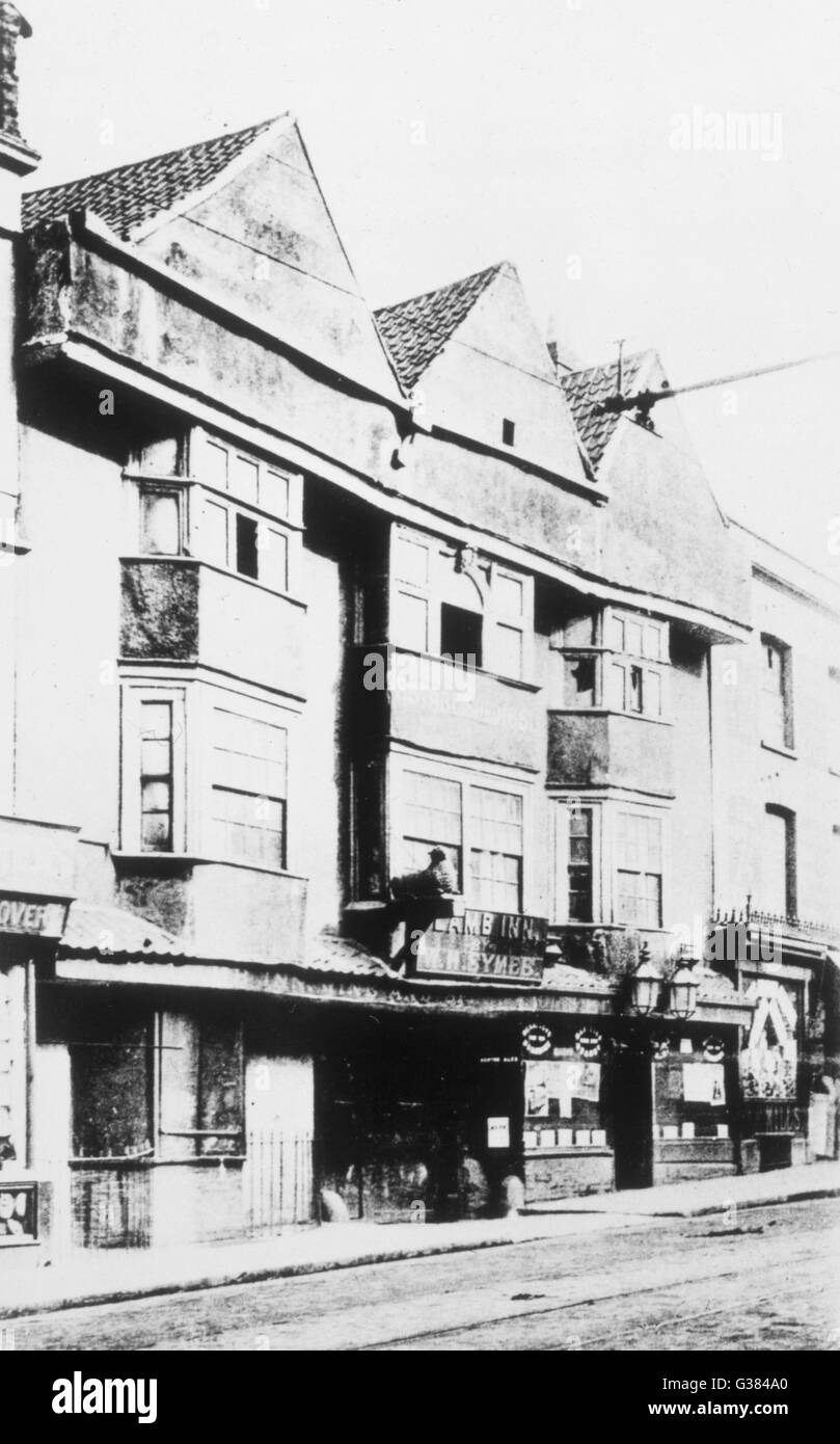 'The Lamb Inn', Bristol, (demolished 1905) scene of  a classic outbreak of  poltergeist activity in the - Stock Image
