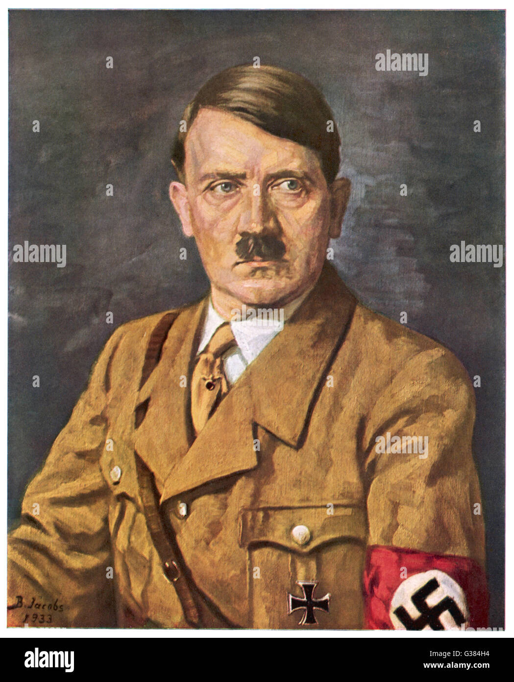 German politician and leader, Adolf Hitler (1889-1945).     Date: 1933 - Stock Image