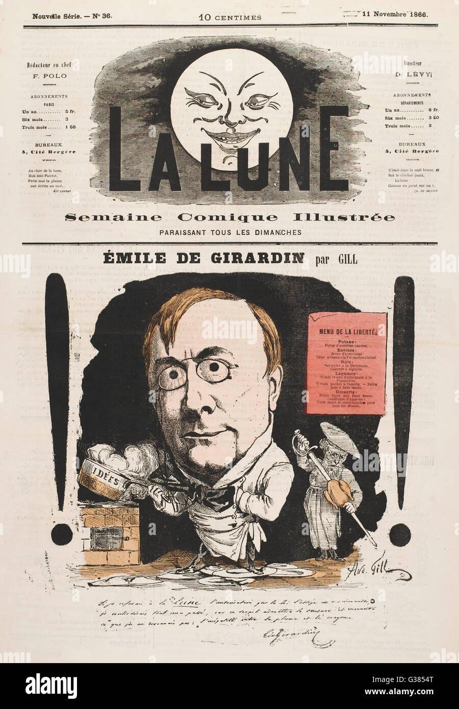 EMILE DE GIRARDIN  French journalist        Date: 1806 - 1881 Stock Photo