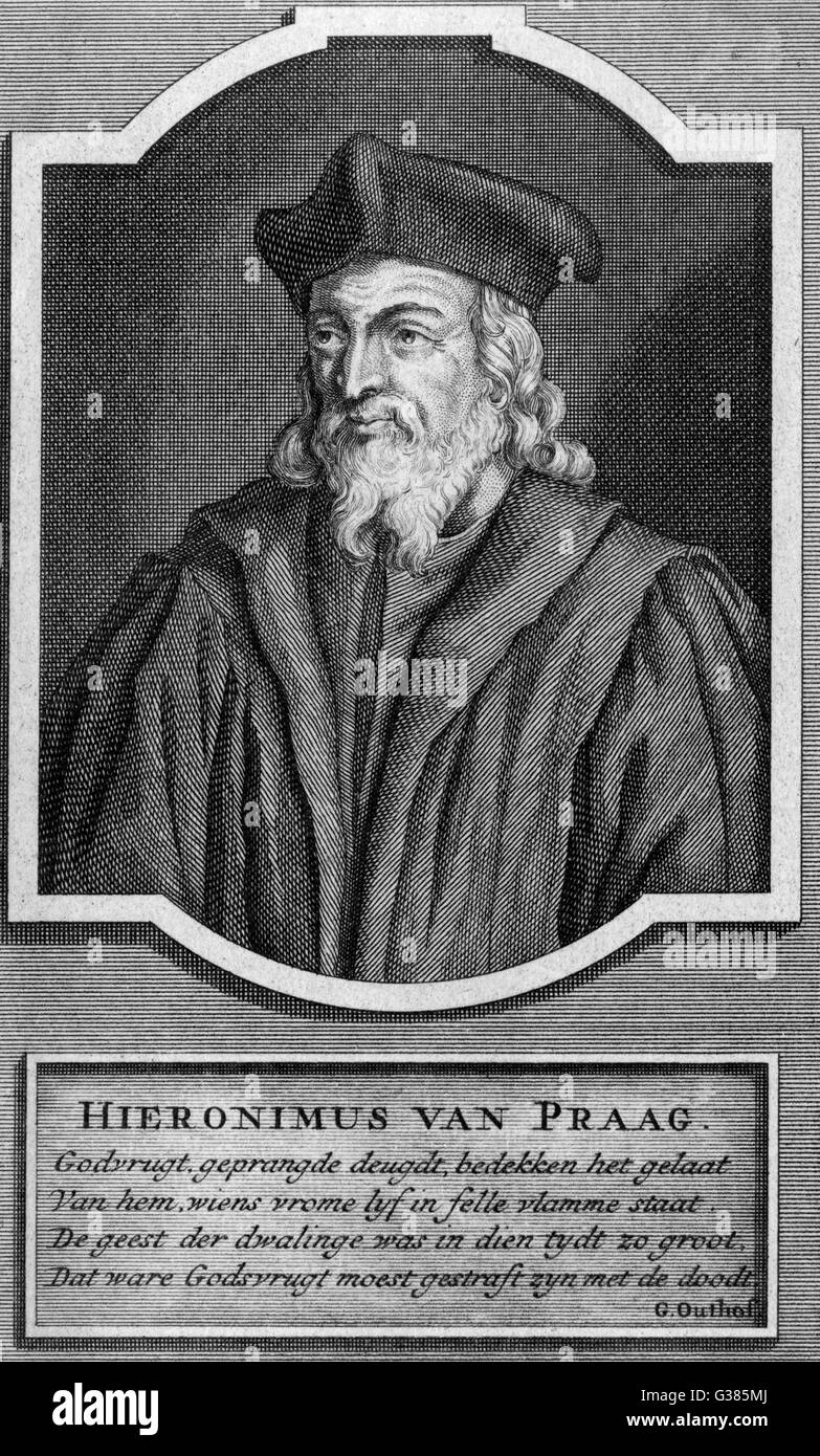 JEROME OF PRAGUE  Czech theologian and reformer        Date: circa 1365 - 1416 - Stock Image