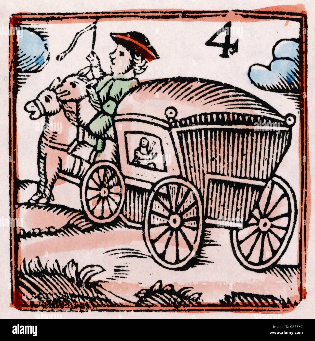 A coachman          Date: 17th century - Stock Image