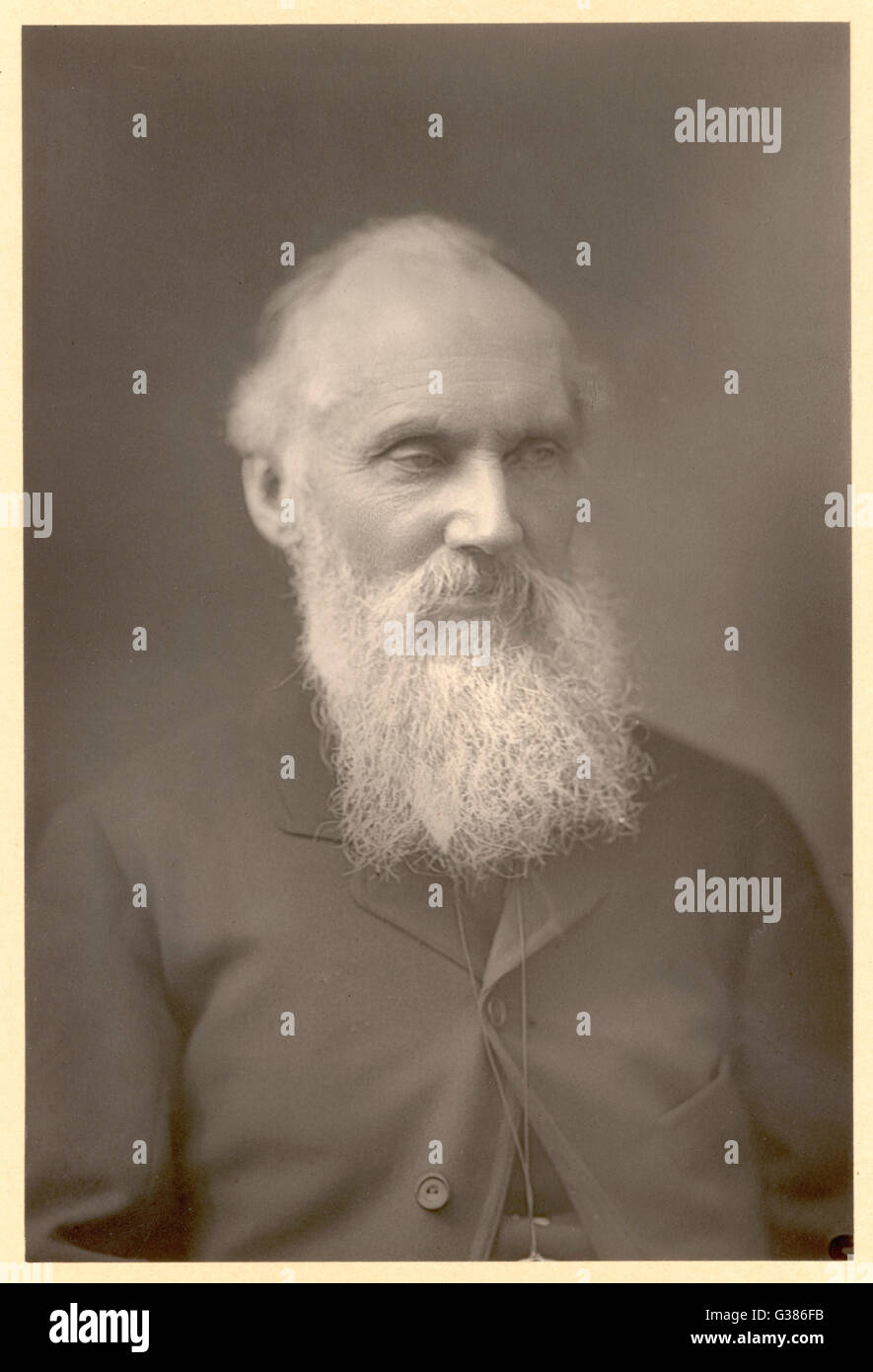 WILLIAM THOMSON, 1ST BARON KELVIN OF LARGS  Mathematician and physicist       Date: 1824 - 1907 - Stock Image
