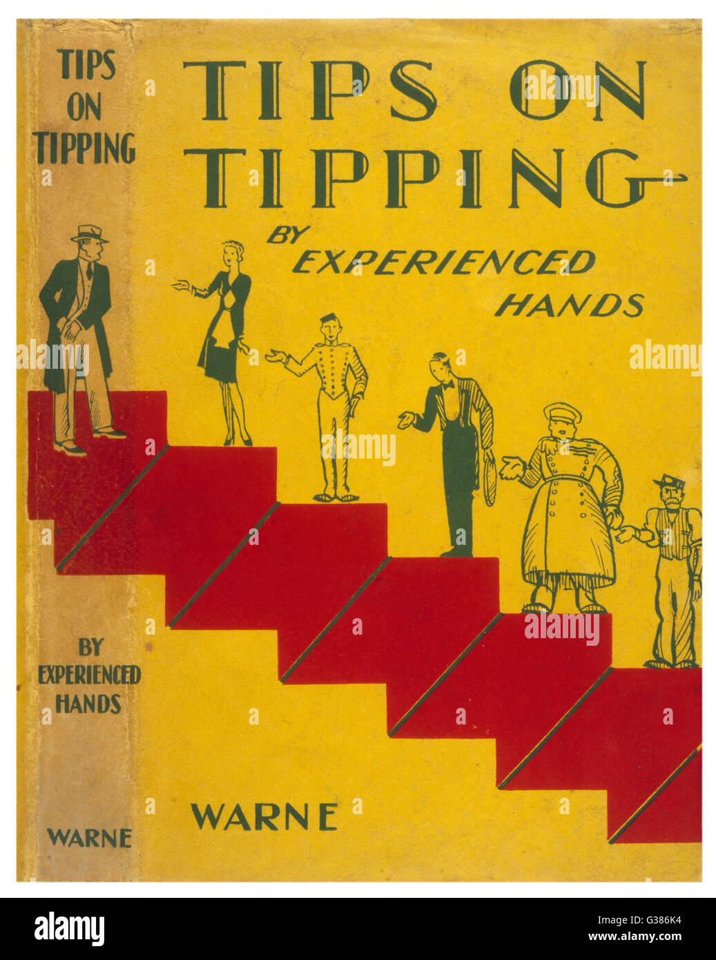 Tips on tipping - a useful  guide as to who you should  tip, when you should tip, what  you should tip, how much - Stock Image