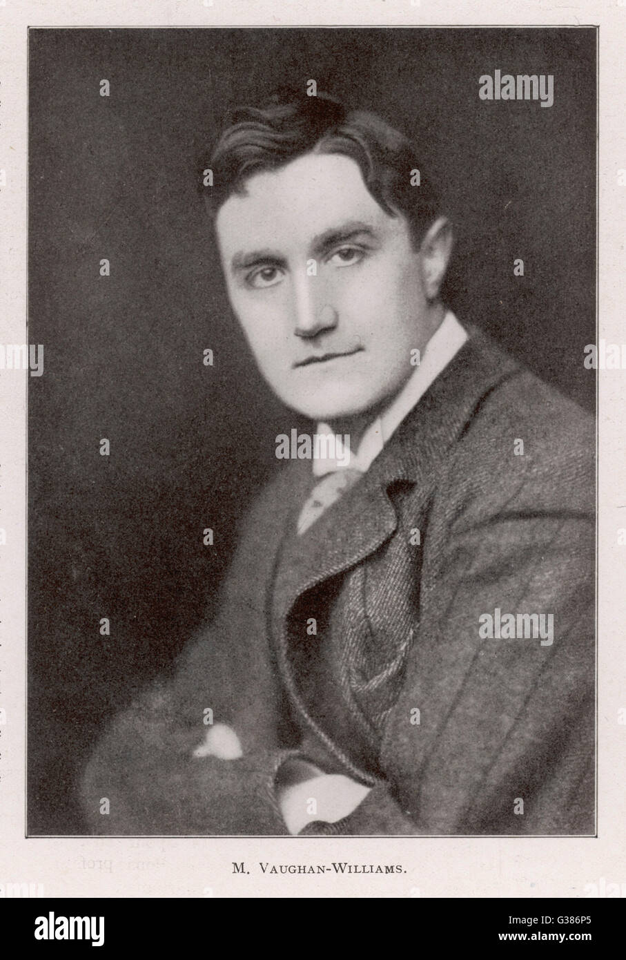RALPH VAUGHAN WILLIAMS -  musician        Date: 1872 - 1958 - Stock Image