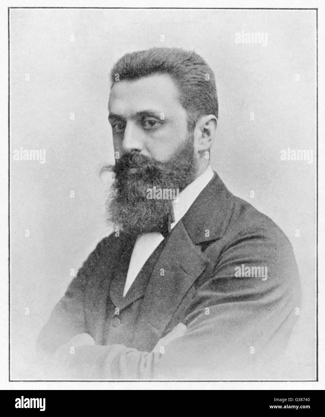 THEODOR HERZL  Hungarian Zionist leader        Date: 1860 - 1904 - Stock Image