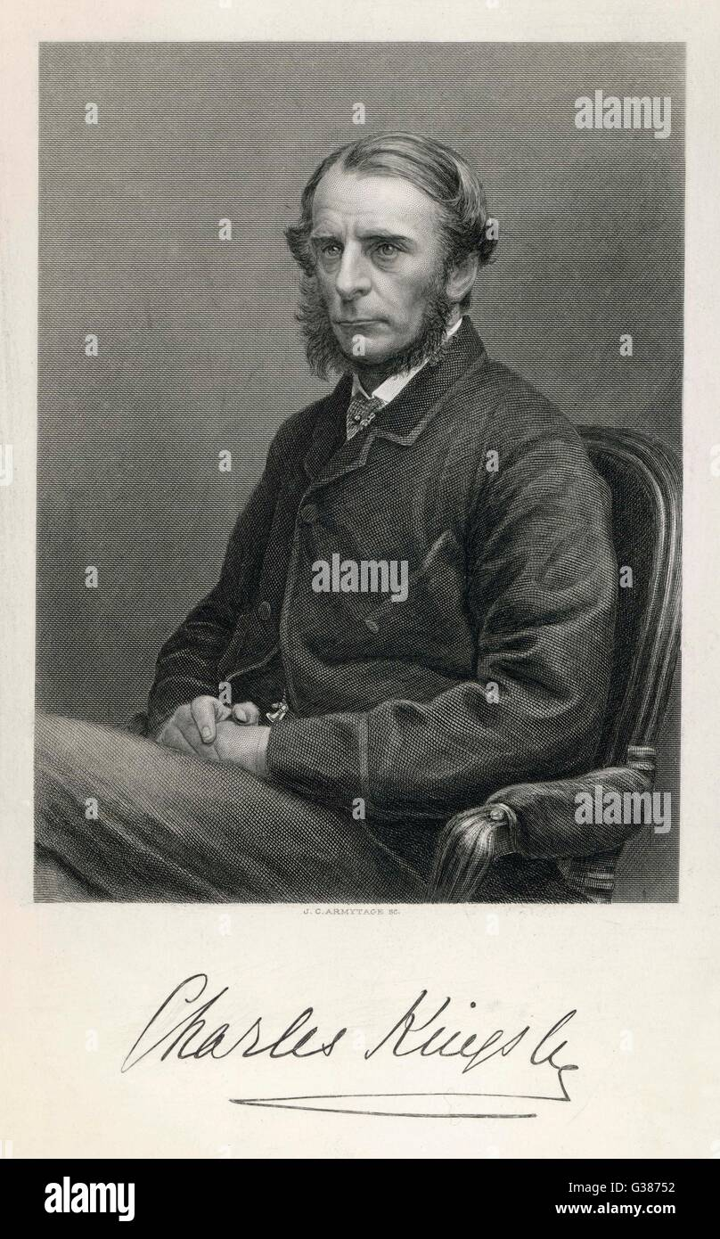 CHARLES KINGSLEY  Writer and clergyman        Date: 1819 - 1875 - Stock Image