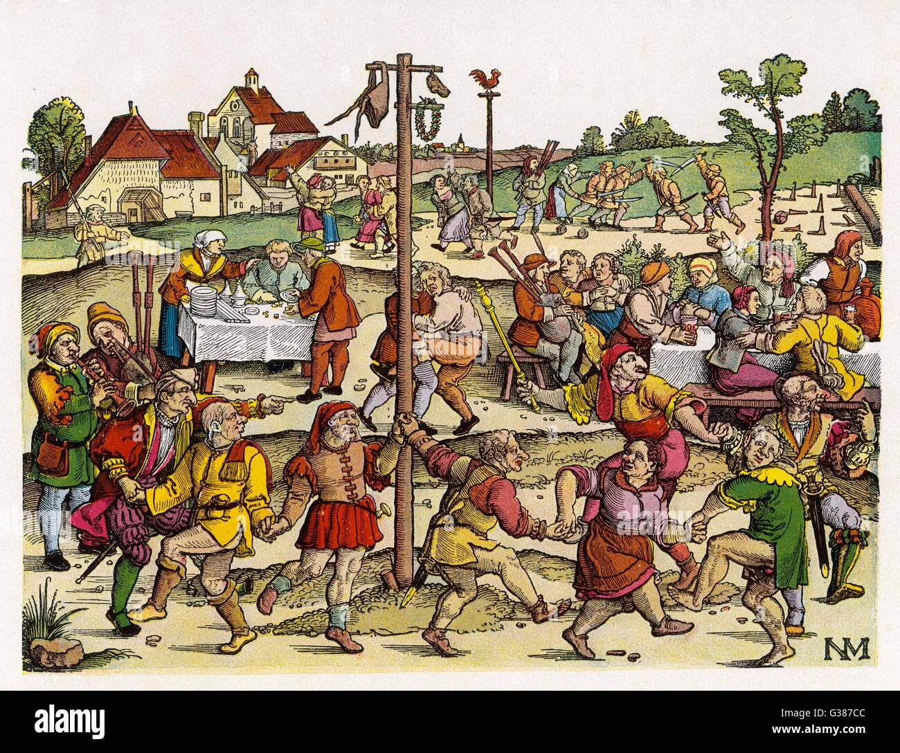 A German country fair Date: 16th century - Stock Image