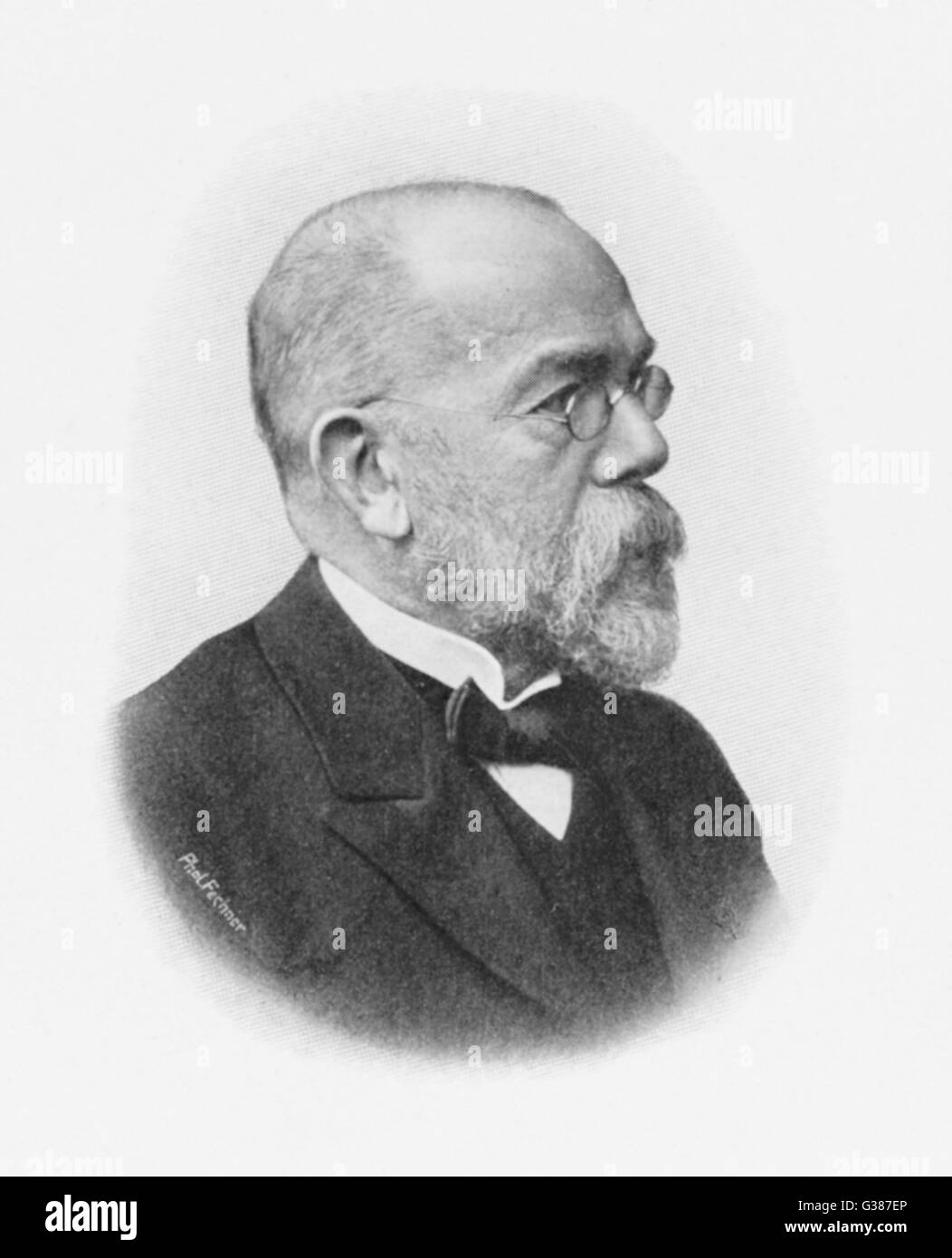 ROBERT KOCH  German bacteriologist        Date: 1843 - 1910 - Stock Image