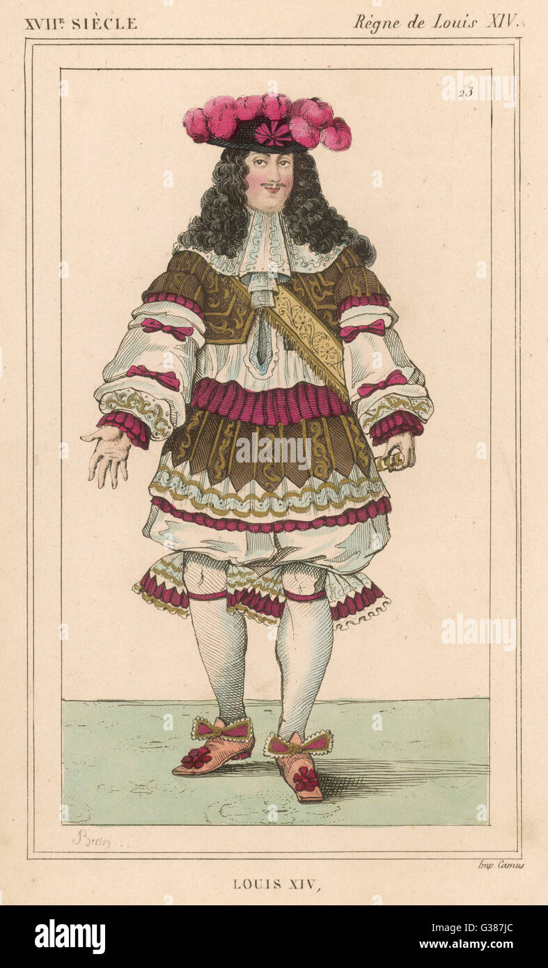 LOUIS XIV   French monarch (picture dated  1670)       Date: 1638 - 1715 - Stock Image