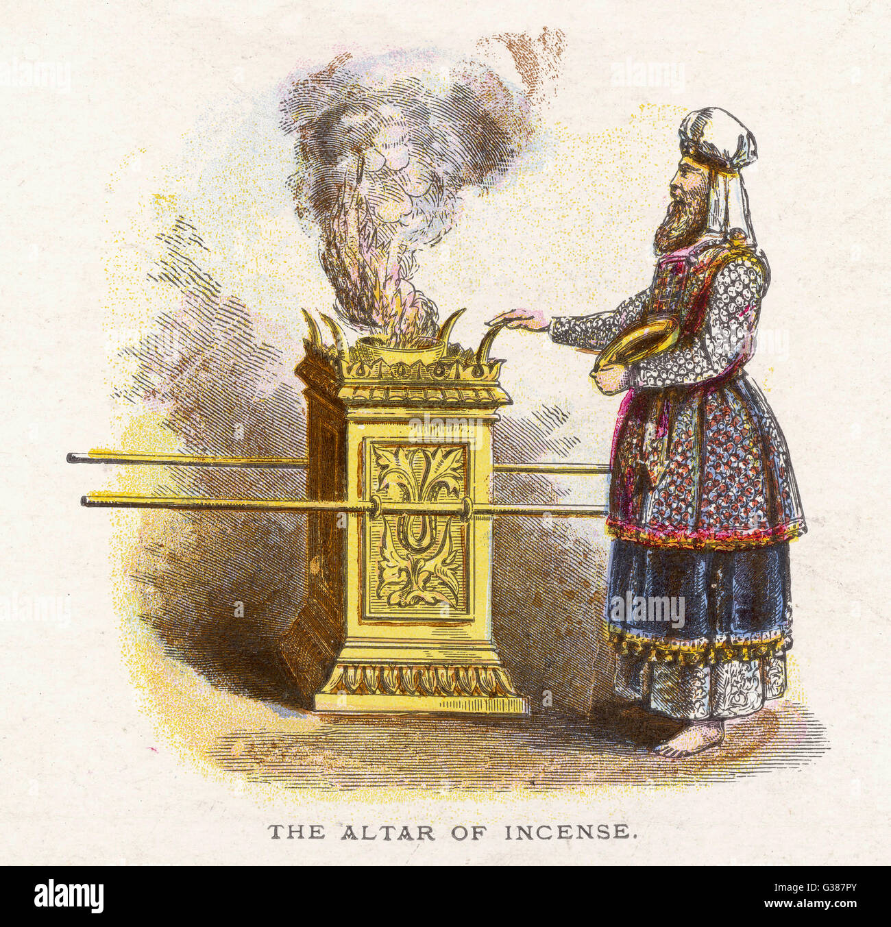 Ceremonial objects : THE ALTAR OF INCENSE - Stock Image