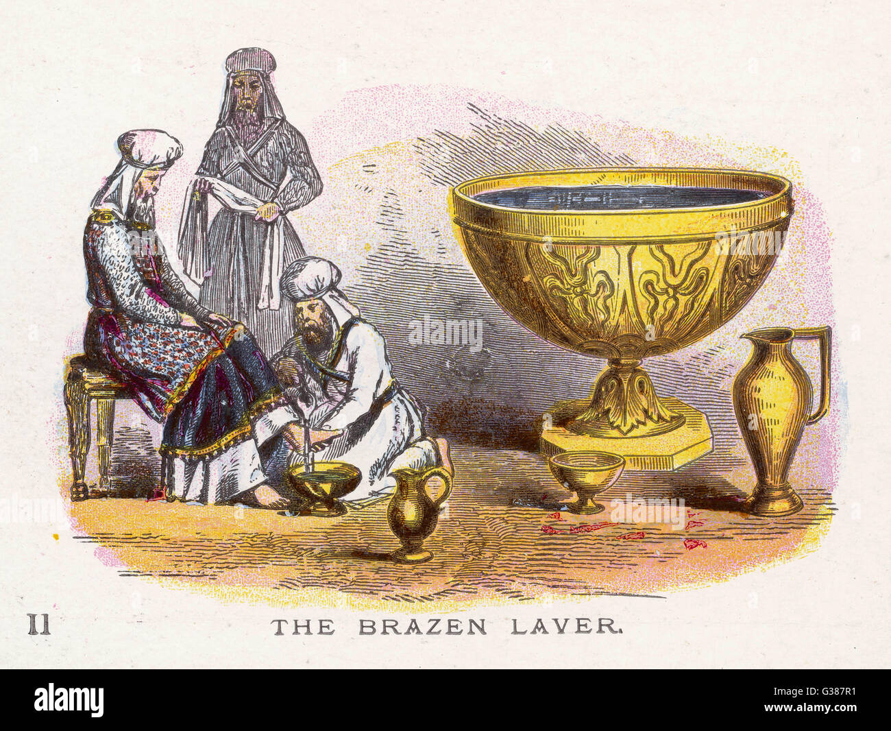Ceremonial objects : THE BRAZEN LAVER - Stock Image