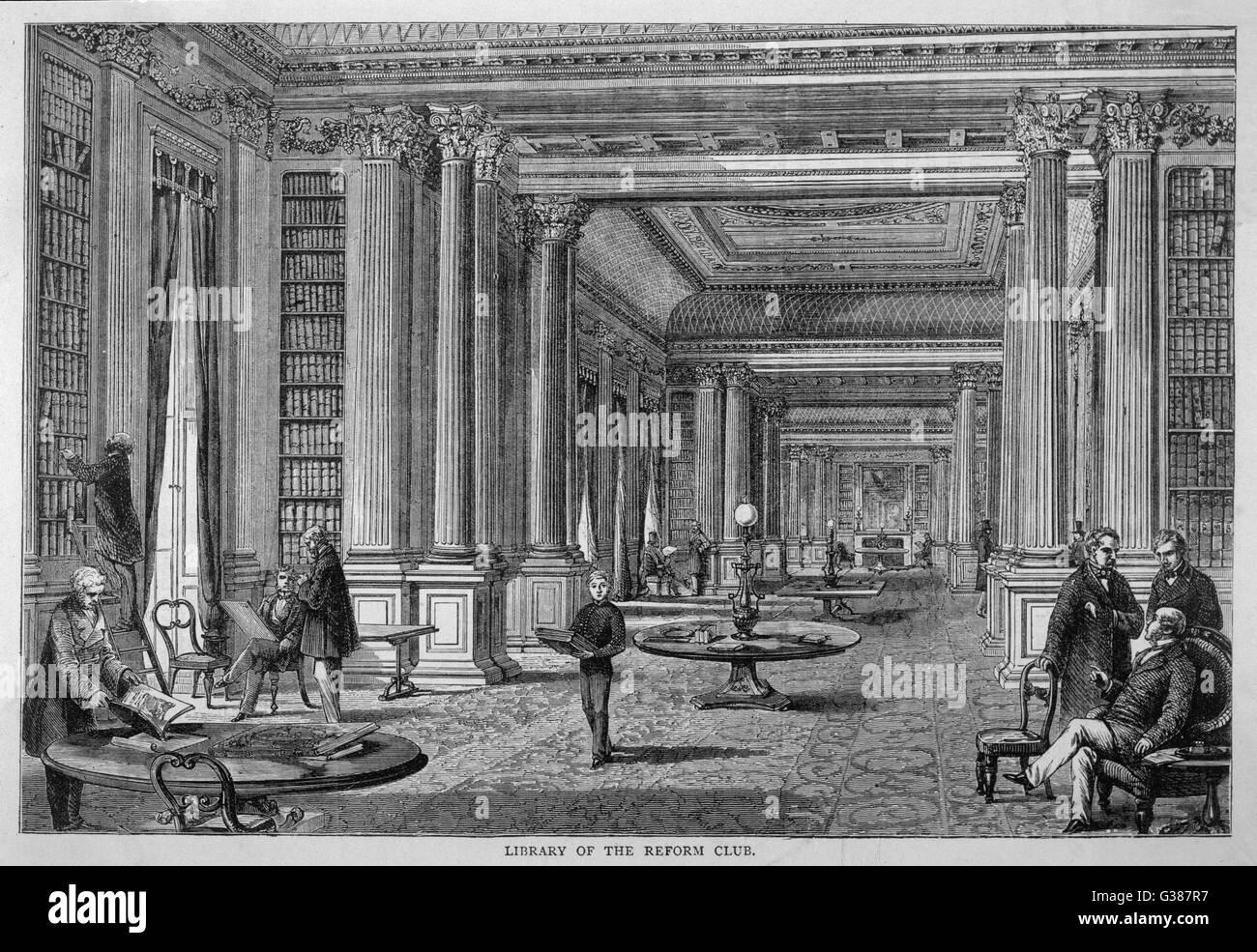 Print circa 85 yrs old Engraving The Reform Club Pall Mall London