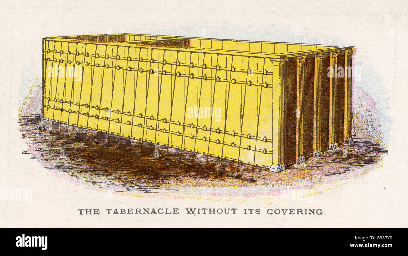 Ceremonial objects : THE TABERNACLE  WITHOUT ITS COVERING - Stock Image