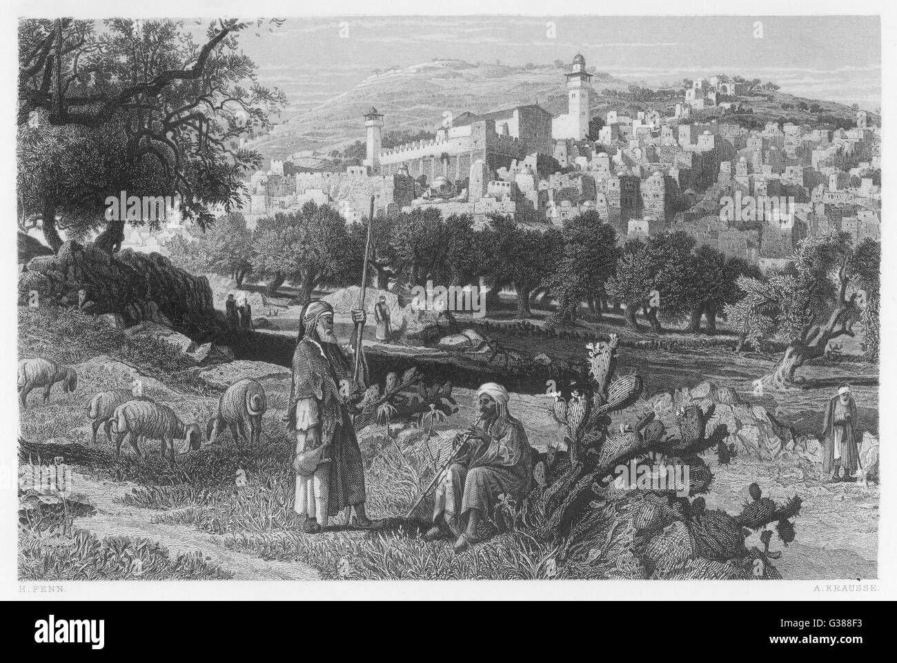 One of the four holy cities of  the Talmud (sacred Jewish  text), believed to be one of  the oldest cities in the - Stock Image