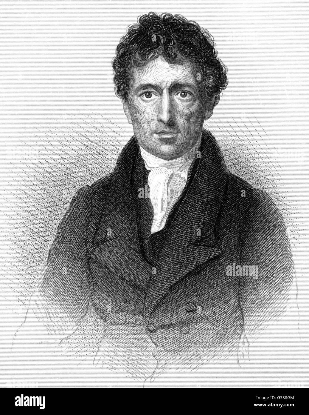 CHARLES LAMB  Writer        Date: 1775 - 1834 - Stock Image
