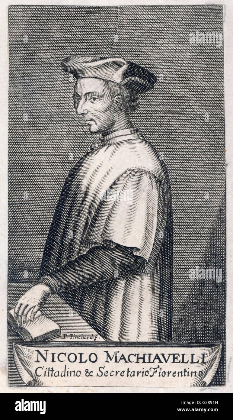 NICCOLO MACHIAVELLI  Italian political theorist        Date: 1469 - 1527 - Stock Image