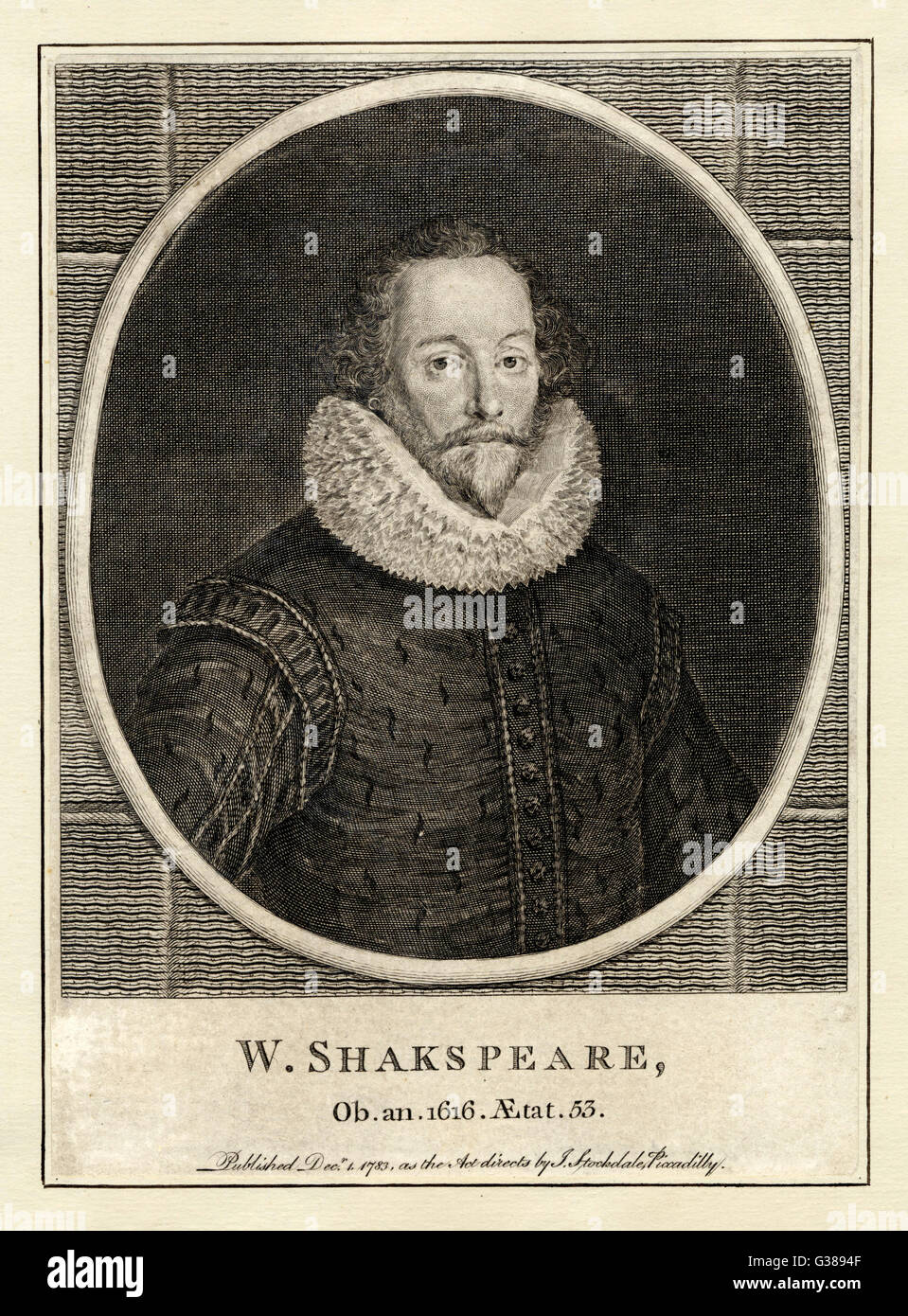 WILLIAM SHAKESPEARE (1564 - 1616) Playwright and poet. - Stock Image