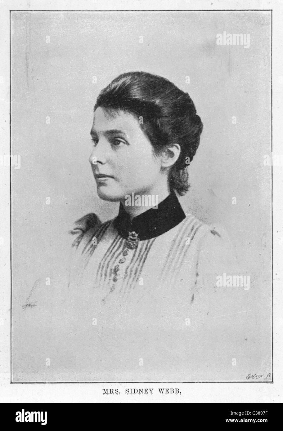 BEATRICE WEBB  economist and social  theorist       Date: 1858 - 1943 - Stock Image