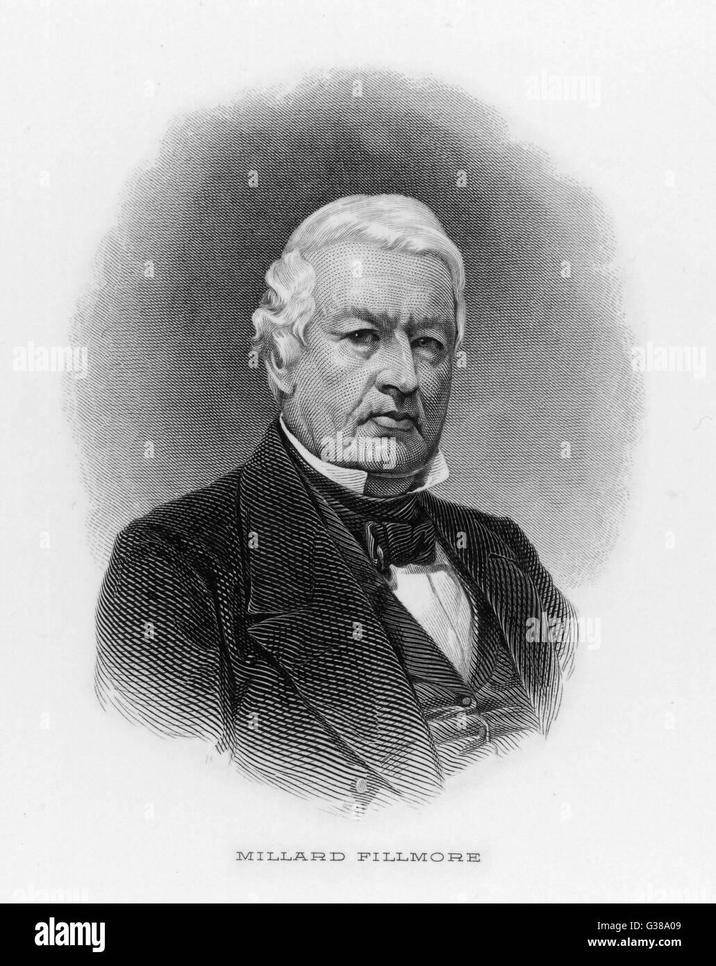 MILLARD FILLMORE  13th American President (1850-53).       Date: 1800 - 1874 Stock Photo