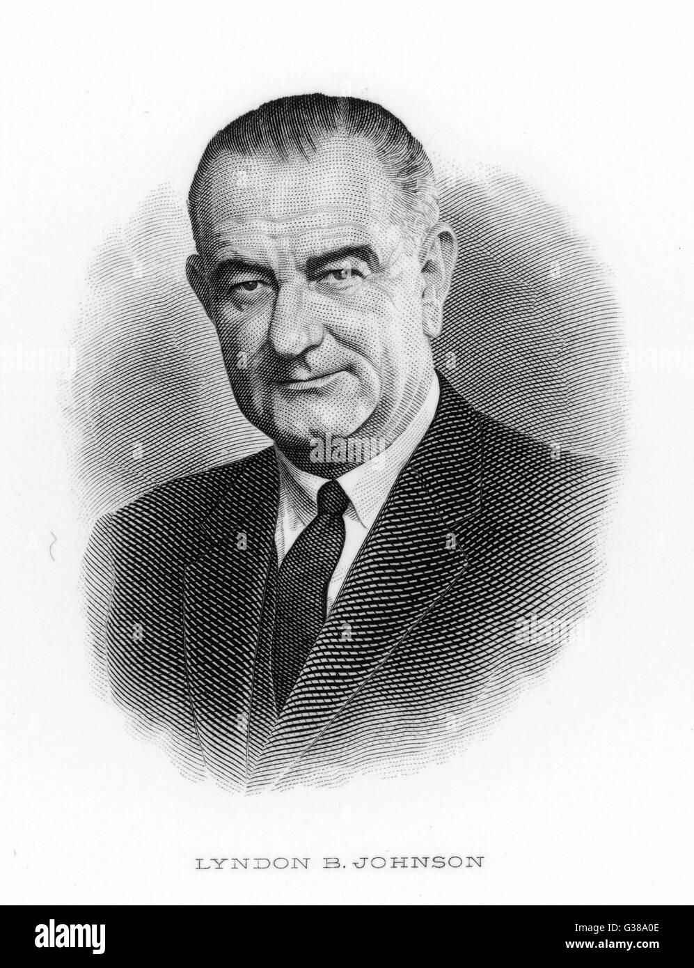 LYNDON B JOHNSON (1908 -1973), US President 1963-68. - Stock Image
