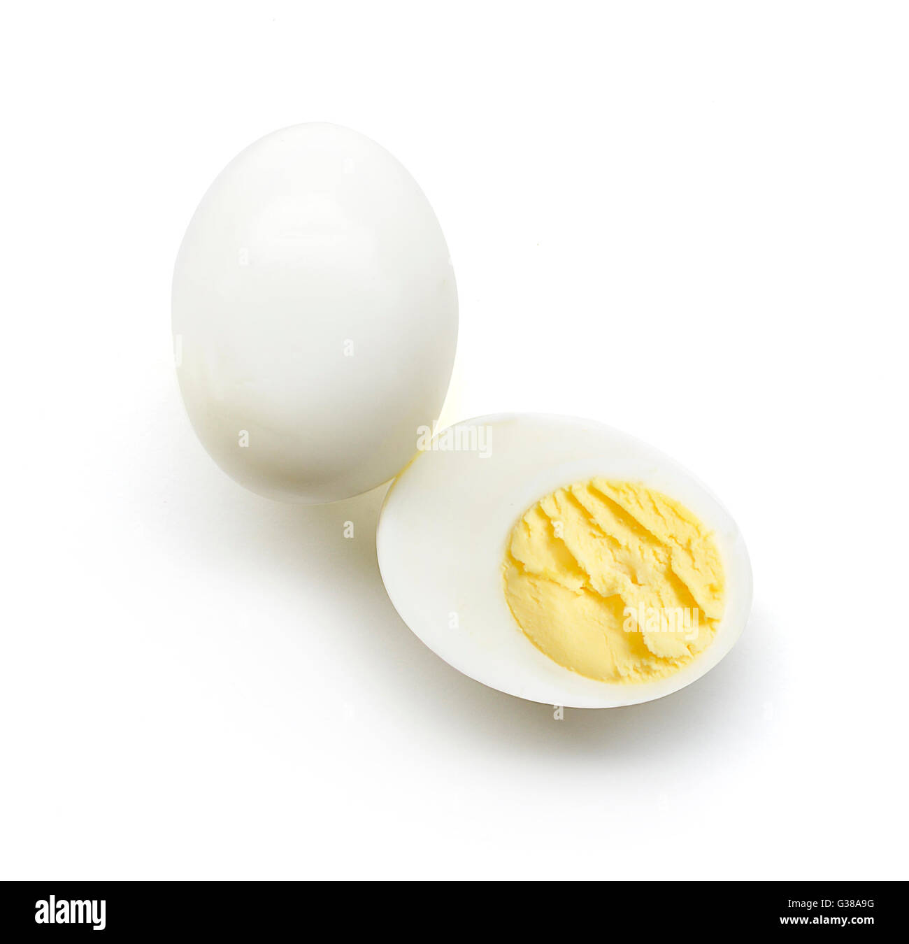 Hard boiled egg - Stock Image
