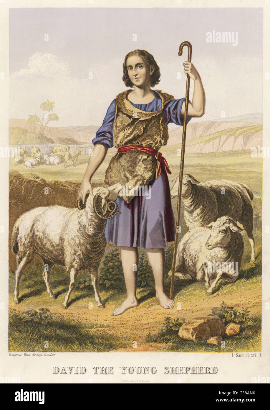 depicted as a shepherd - Stock Image