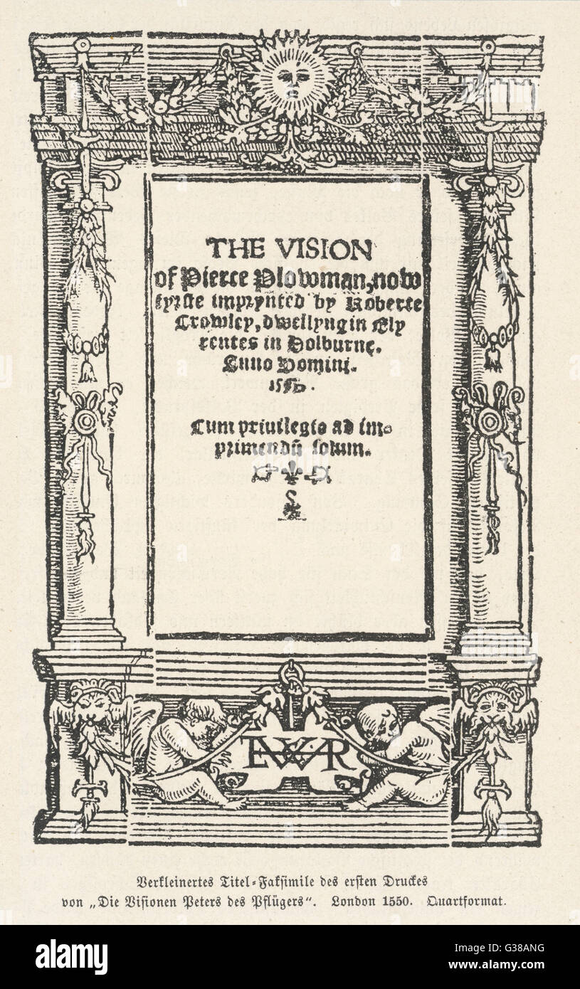 Frontispiece.          Date: First published: 1550 - Stock Image