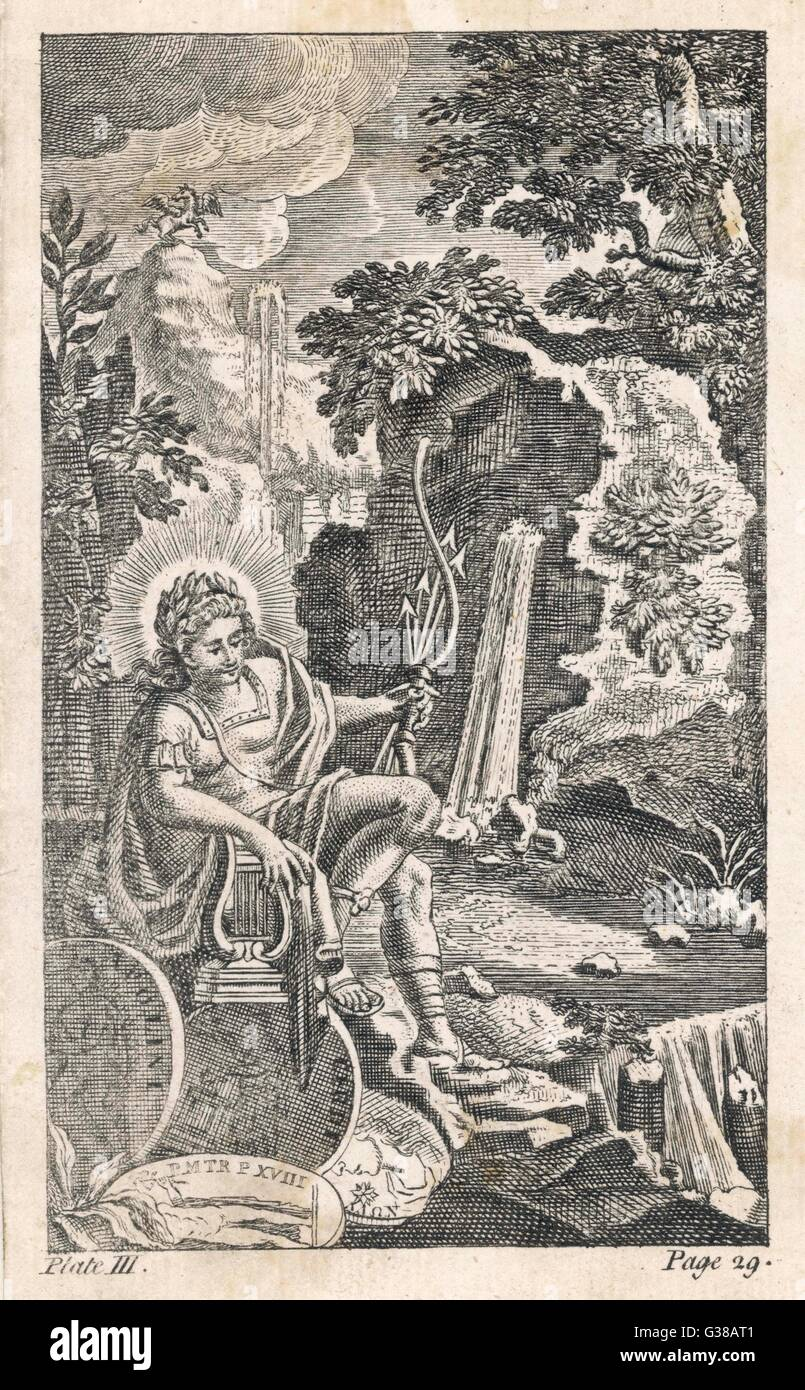 The Bow Testifies To His Status As God Of Archery Lyre Patronage