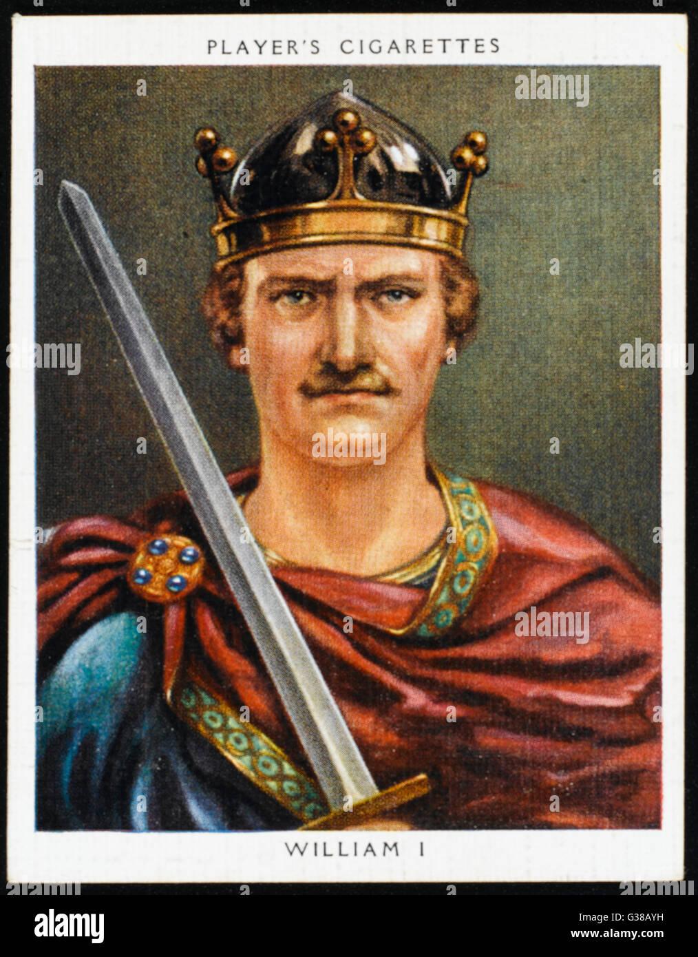 WILLIAM I THE CONQUEROR          Date: 1027 - 1087 - Stock Image