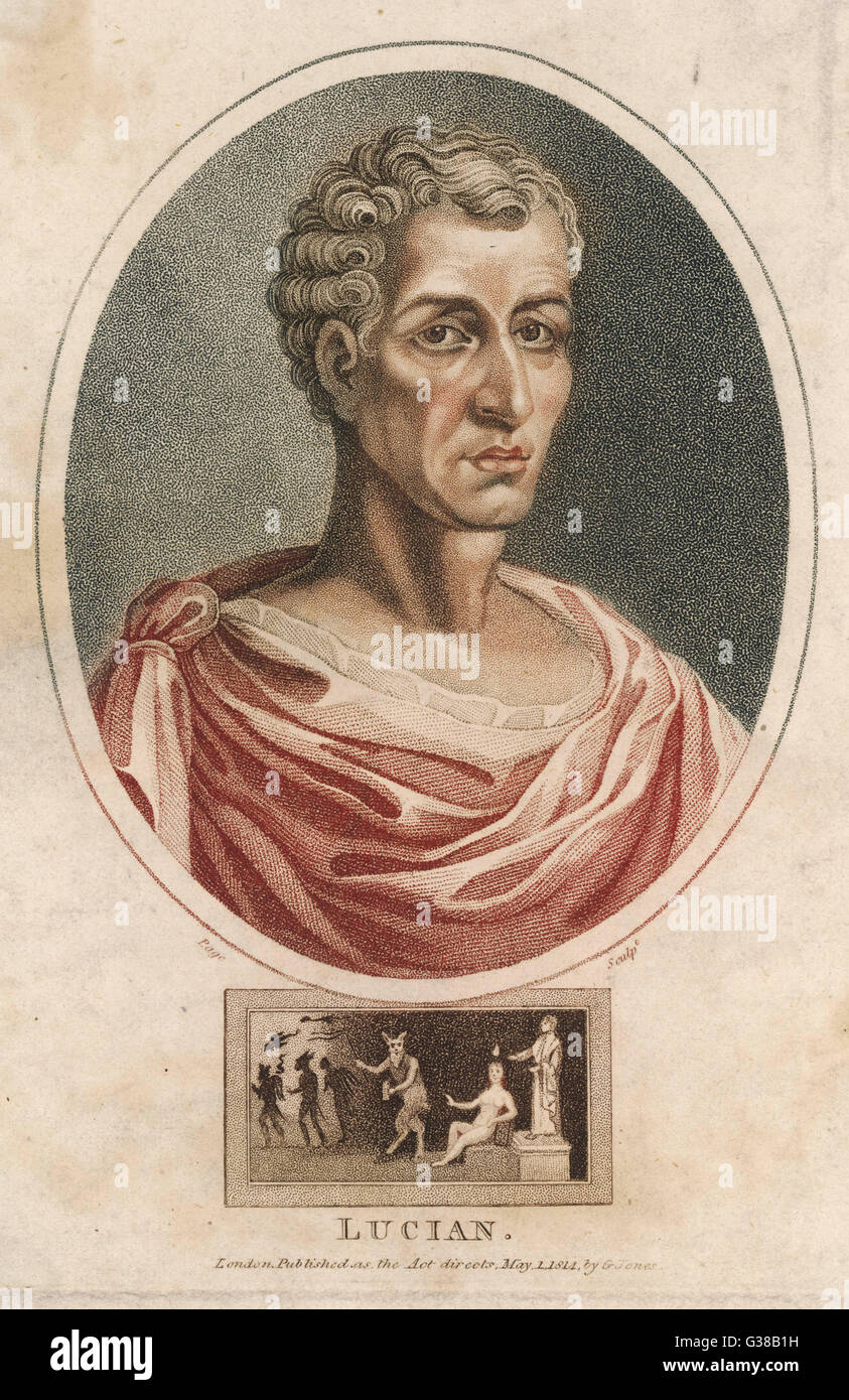 LUCIAN  Greek writer and satirist         Date: 120 - 180 - Stock Image