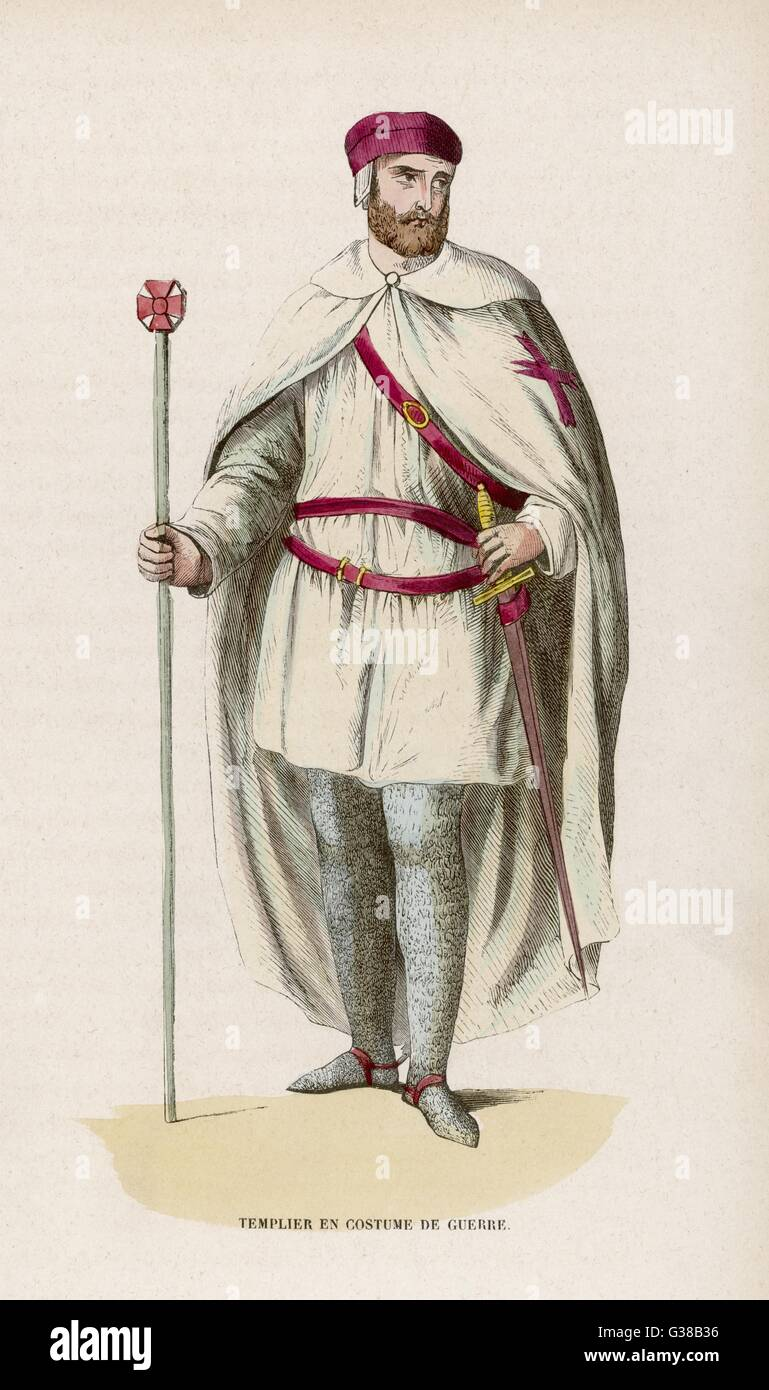 Templar in campaign dress. - Stock Image