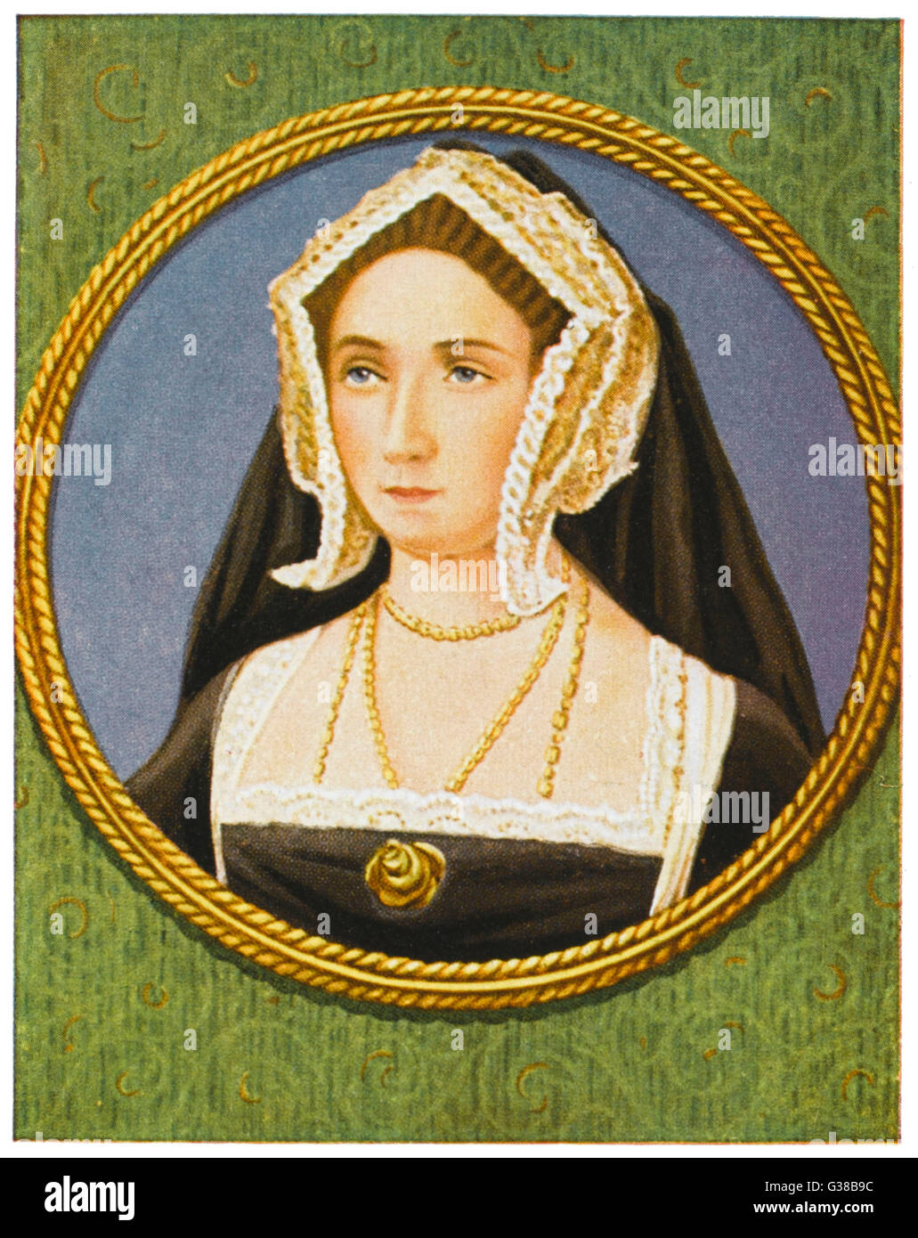 JANE SEYMOUR  3rd wife of Henry VIII; died in childbirth; mother of Edward VI      Date: 1509 - 1537 - Stock Image