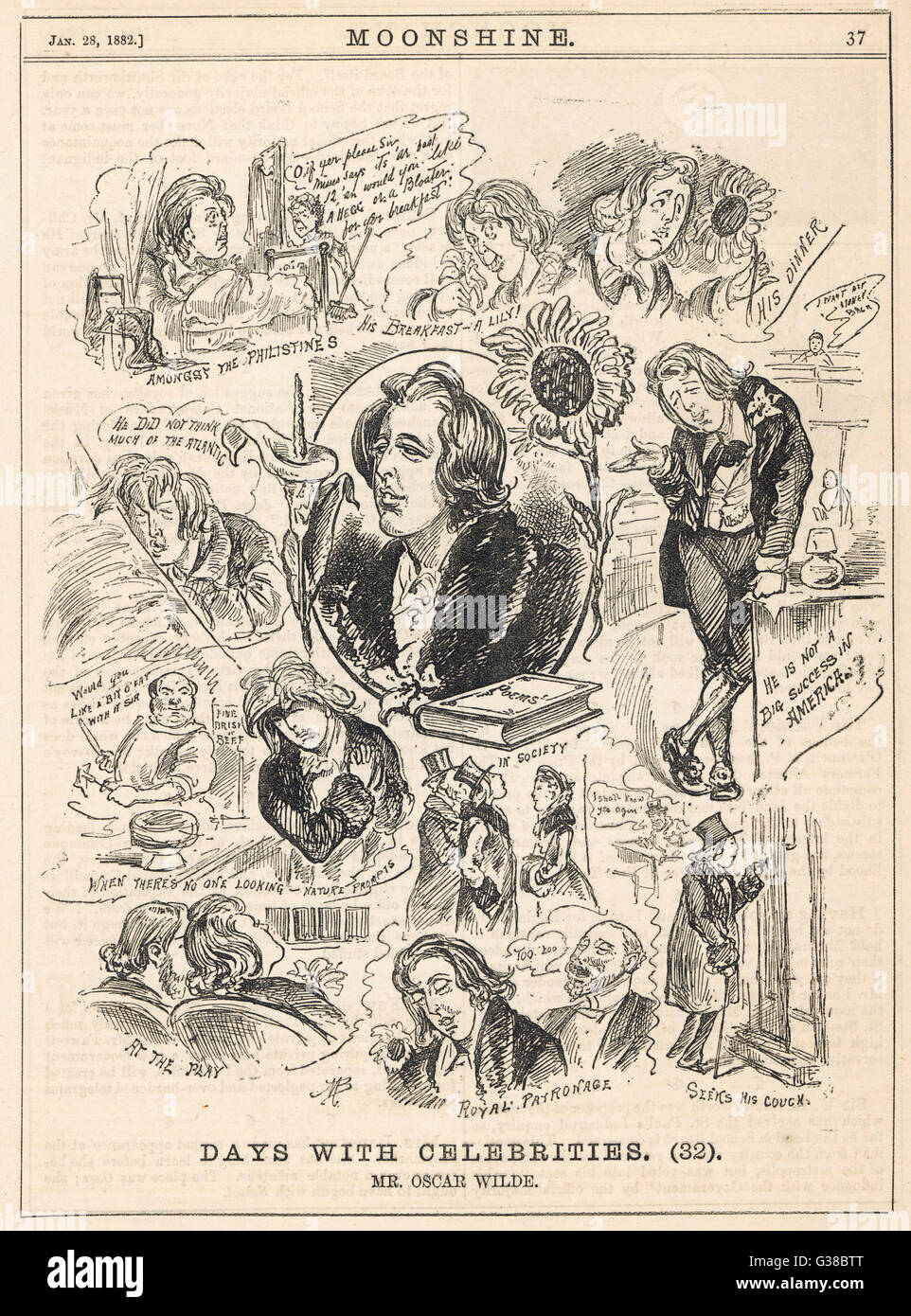 OSCAR WILDE - some satirical comments         Date: 1856-1900 - Stock Image