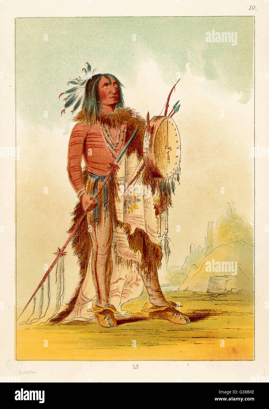 Wun-nes-tou, medicine man of Blackfeet tribe Date: 1830