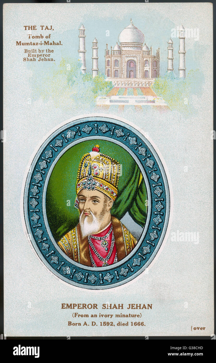 SHAH JAHAN I  despite building the Taj  Mahal, he was deposed and died  in captivity      Date: 1592 - 1666 - Stock Image
