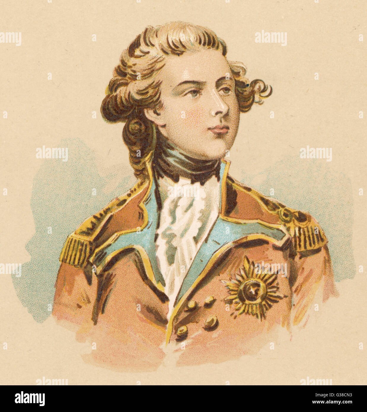 GEORGE IV OF ENGLAND -  as Prince of Wales        Date: 1762 - 1830 - Stock Image