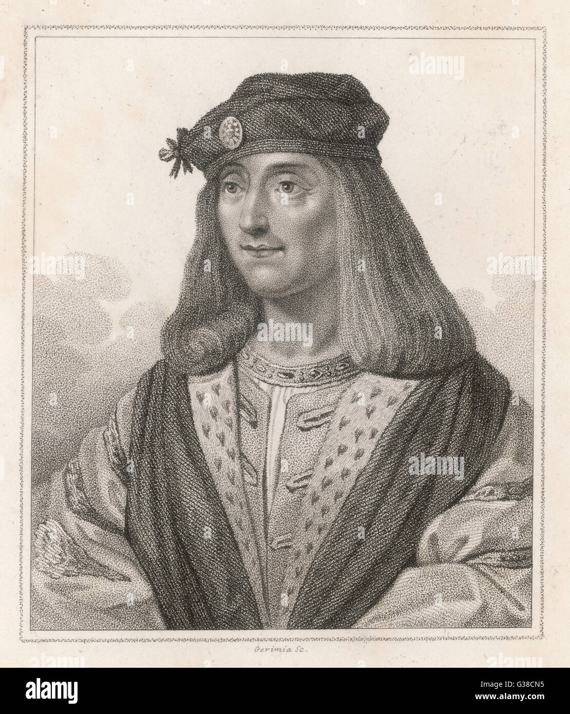 JAMES IV OF SCOTLAND  Invaded England and was  killed at Flodden Field       Date: 1473 - 1513 - Stock Image