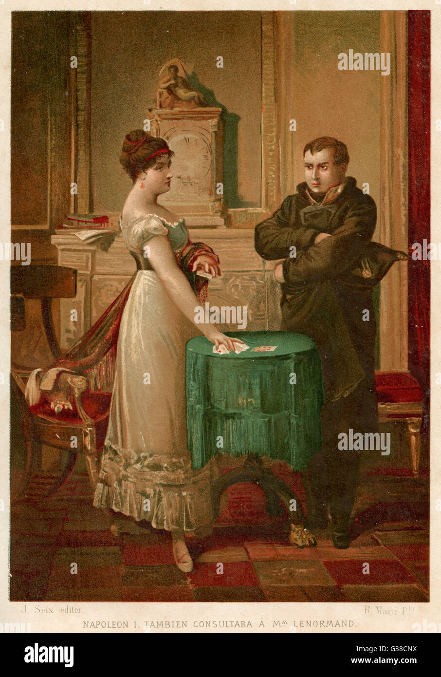 He consults the celebrated  fortune-teller, Madame  Lenormand, who accurately  foresees his destiny       Date: Stock Photo