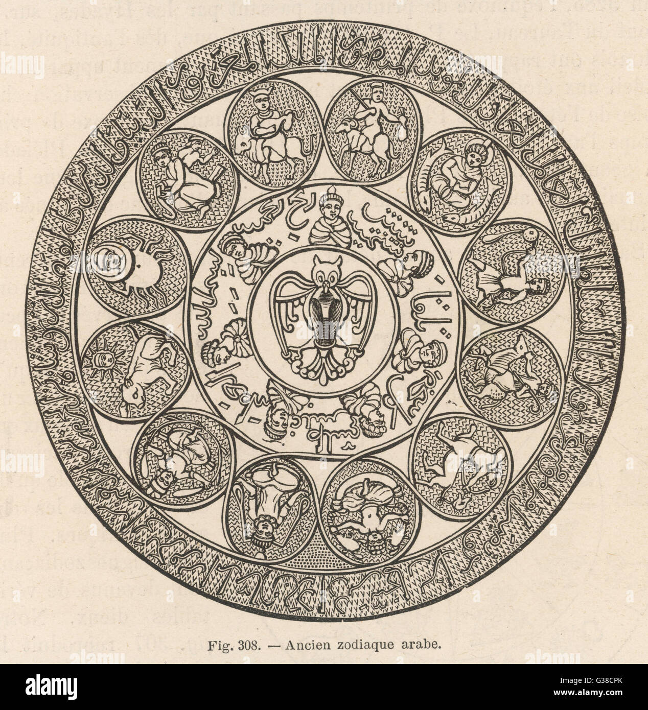 Ancient Arab zodiac - Stock Image